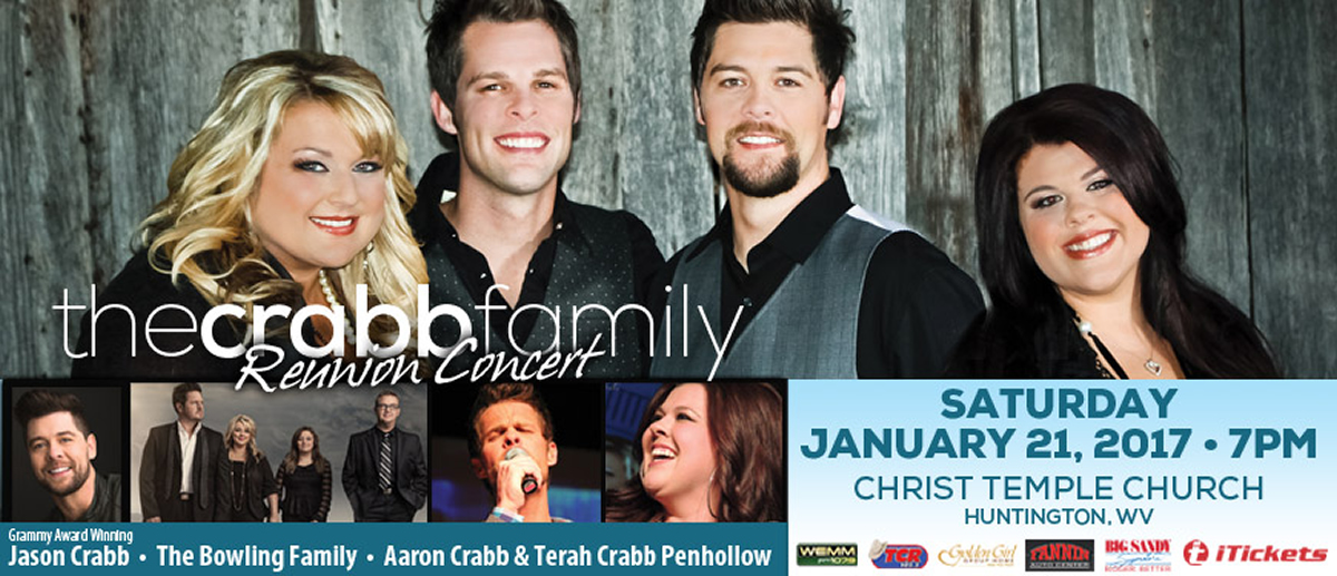 Join The Crabb Family for a night of southern gospel music and support Golden Girl Group Home.